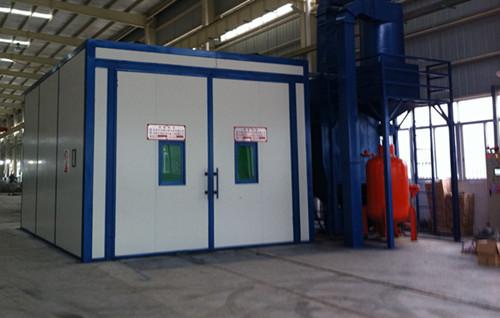 气力回收方式喷砂房