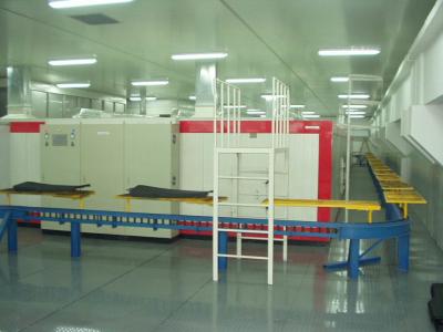无尘线支承式输送系统实例